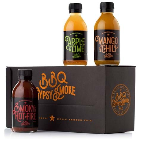 BBQ Gypsy Smoke 3-pack barbeque sauce